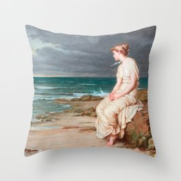 John William Waterhouse - Miranda Throw Pillow