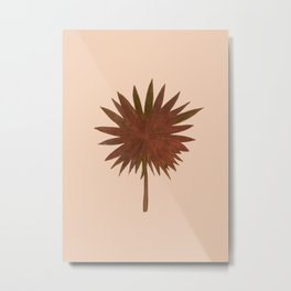 Bronze Fan Palm Leaf Metal Print