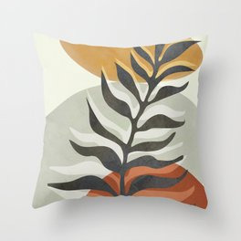 Abstract Leaf I Throw Pillow
