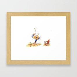 Girl and Suqirrel3 Framed Art Print