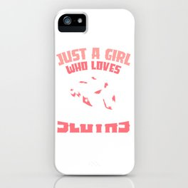 Just a girl who loves sloths iPhone Case
