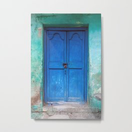 Blue Indian Door Metal Print