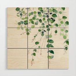 Eucalyptus Watercolor Wood Wall Art