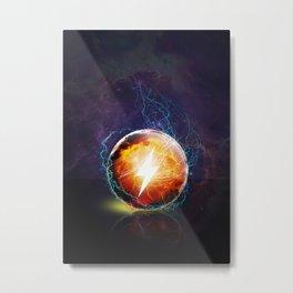 Eletric Orb Metal Print