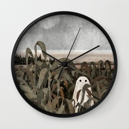 There's A Ghost in the Cornfield Again Wall Clock