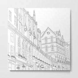 Victoria Street in Edinburgh, Scotland Metal Print