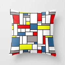 Mondrian style pattern Throw Pillow