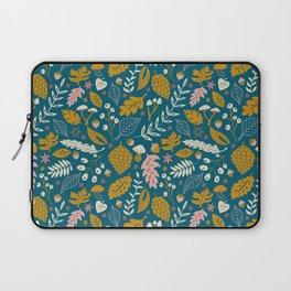 Fall Foliage in Blue and Gold Laptop Sleeve