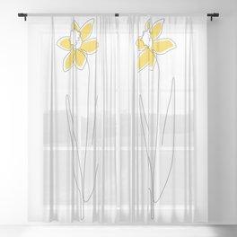 Mustard Daffodil Sheer Curtain