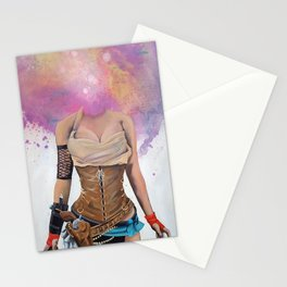Steampunk Gun Slinger Stationery Cards