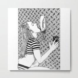 asc 934 - Le combiné est occupé en permanence (Oral stimulation) Metal Print