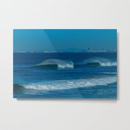 Surf and the City Metal Print