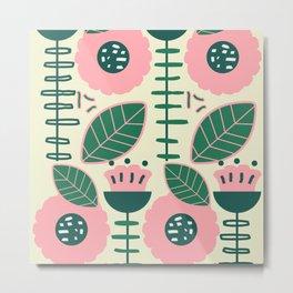 Modern flowers and leaves Metal Print