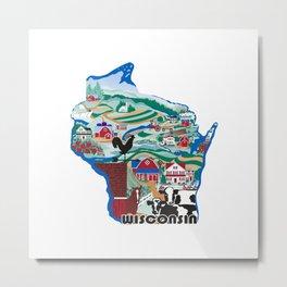 Wisconsin Country Sampler Metal Print