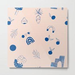 Summer Islands Pattern Metal Print