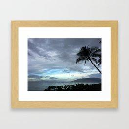 BLUE SKIES OVER MAUI Framed Art Print