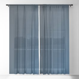 Shades of PANTONE Classic Blue Color Of The Year 2020 Sheer Curtain