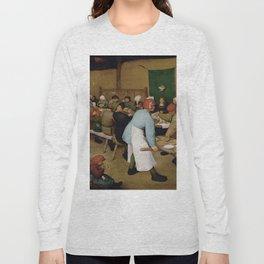 Peasant Wedding by Pieter Bruegel the Elder Long Sleeve T-shirt