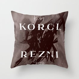 King Of Scars Throw Pillow