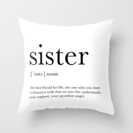 Sister Definition Throw Pillow