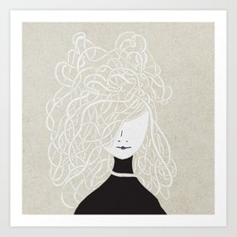 Iconia Girls - Olivia Sand Art Print