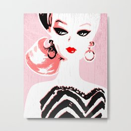 Classic Barbie Metal Print
