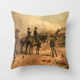 Civil War Siege of Atlanta by Thure de Thulstrup (1888) Throw Pillow