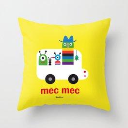 Mec Mec Throw Pillow