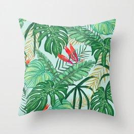 The Tropics ||| #illustration #tropical Throw Pillow