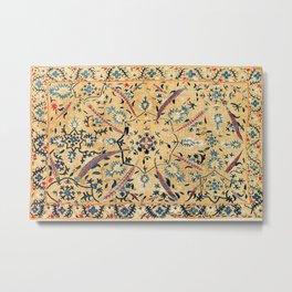 Kermina  Suzani  Antique Uzbekistan Embroidery Print Metal Print