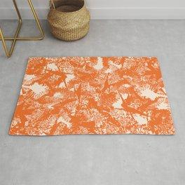 Minimal Shapes Peach Orange Skintones Abstract Pattern Digital Art Print Art Print Rug
