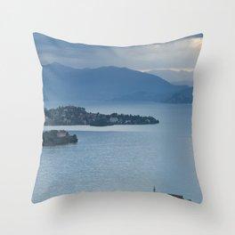 Majestic Lake Maggiore Throw Pillow
