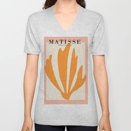Henri matisse the cut outs contemporary, modern minimal art Unisex V-Neck