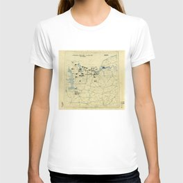 June 6 1944 D-Day World War II Twelfth Army Group Situation Map T-shirt