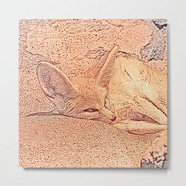 Sketchy Fennec Fox Metal Print