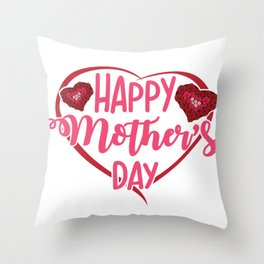 Happy Mothers Day Message Best Mom Grandma Gift Throw Pillow