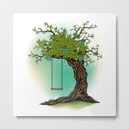 Tree Swing Metal Print