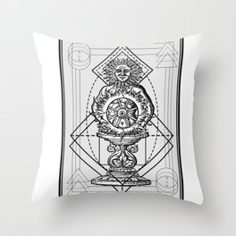 Hermetica Moderna - Sol Invictus Throw Pillow