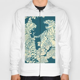 floral tigers Hoody