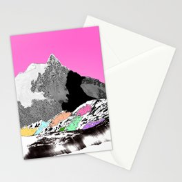 Technicolor landscape Stationery Cards