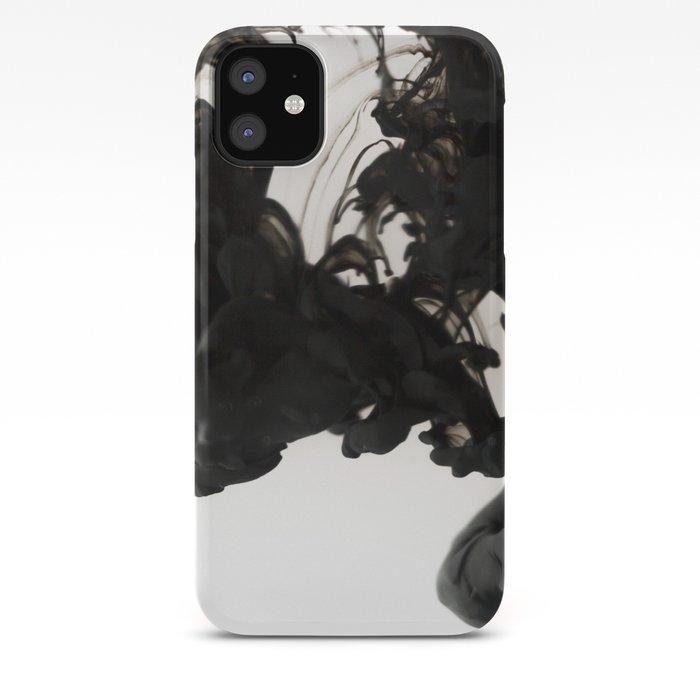 Black ink in water iPhone Case