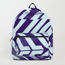 Illusion Typographic Design in Blue Colorway Backpack