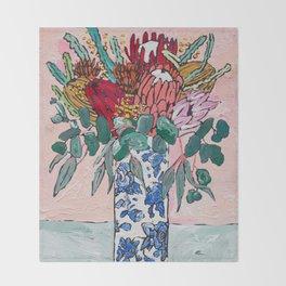 Australian Native Bouquet of Flowers after Matisse Throw Blanket
