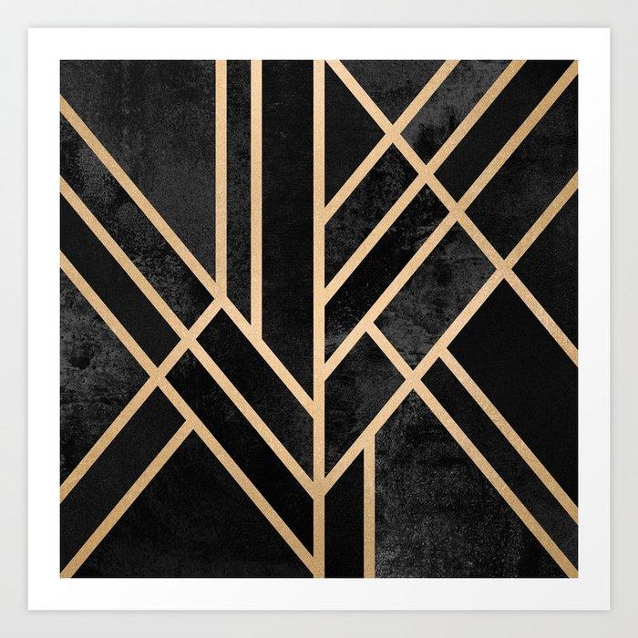 Art Deco Black Kunstdrucke