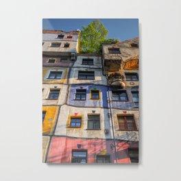 Hundertwasserhaus Vienne Autriche 3 Metal Print