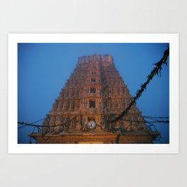 Early Morning Hindu Temple (Mysore & India & Travel) Art Print