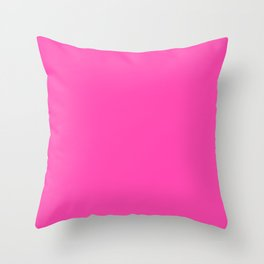 Fluorescent Neon Pink // Pantone 806 U Throw Pillow