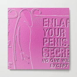 Make my Dick GREAT again - Relief Metal Print