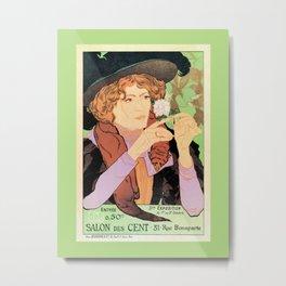 Art Nouveau Expo Salon des Cent Paris Metal Print