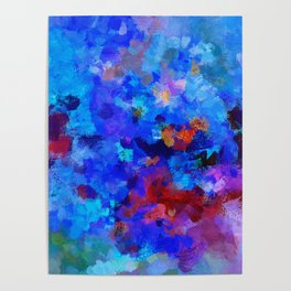 Abstract Seascape Painting Poster
